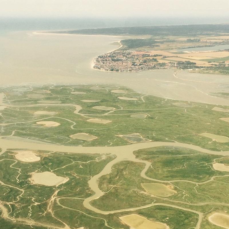 La Baie de Somme vue du ciel
